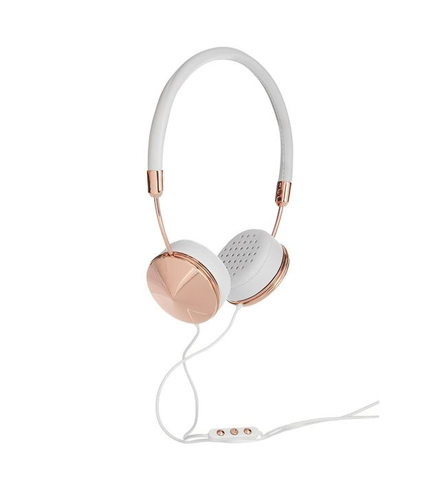 Friends Layla Leather and Rose Gold-Tone Headphones