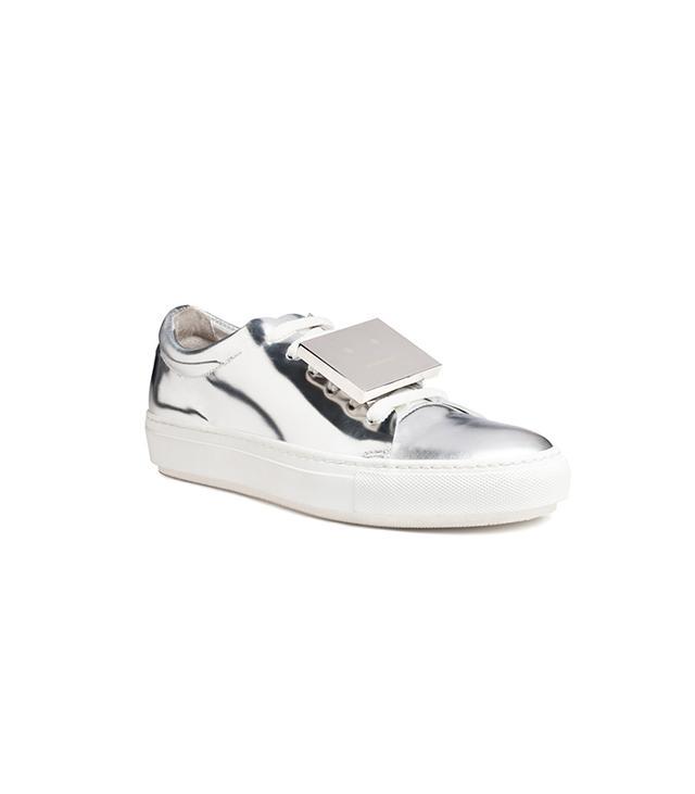 Acne Studios Adriana Metallic Silver Sneakers