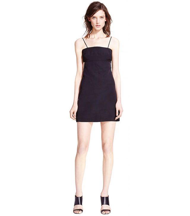 Tamara Mellon Asymmetrical Cutout Shantung Dress