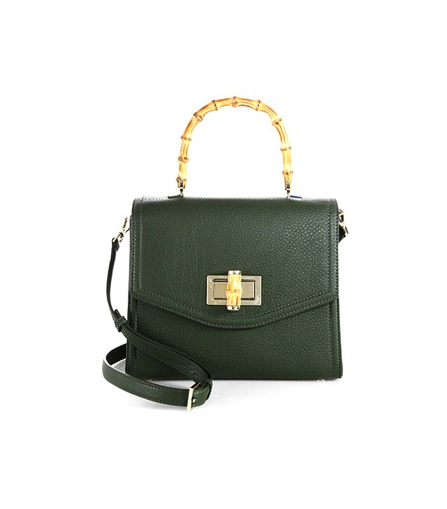 kate spade new york Laguna Court Top-Handle Pebbled-Leather Satchel