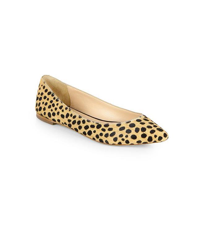 Loeffler Randall Quinnie Cheetah-Print Calf Hair Flats