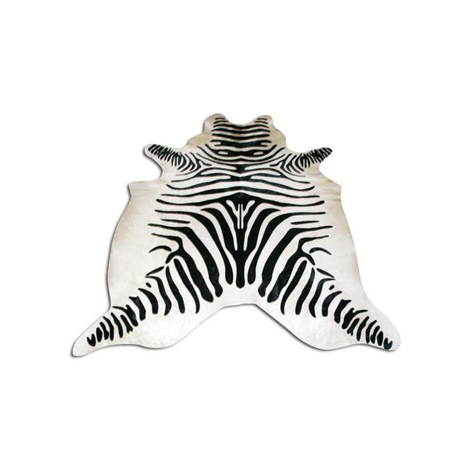 Yerra Zebra Print Cowhide Rug