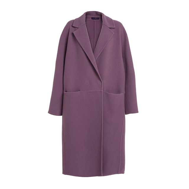 Noon By Noor Mauve Felt Oversize Coat