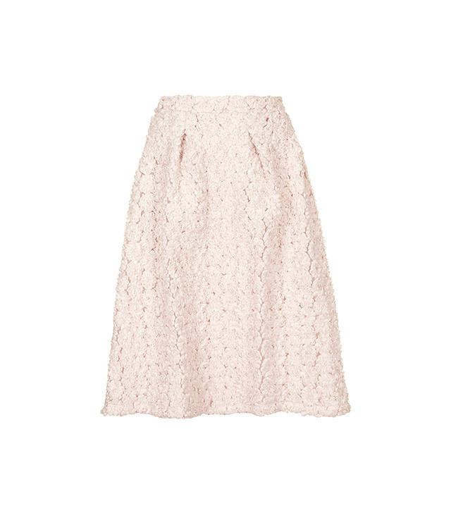 Topshop 3D Rosette Midi Skirt