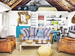 Step Inside a Rustic Bayside Cabin
