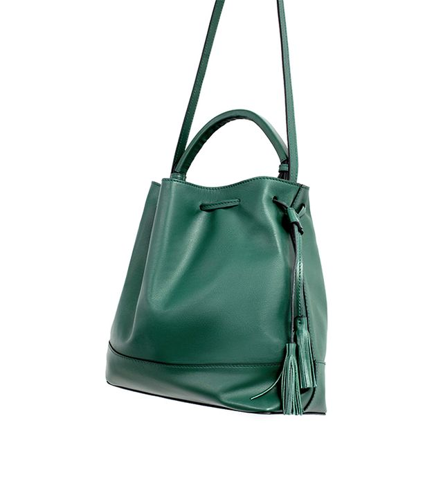 Zara Leather Bag With Rigid Handle