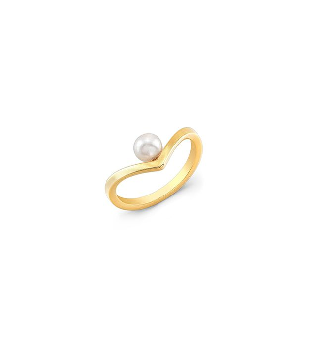 Vita Fede Pearl Mini V Ring