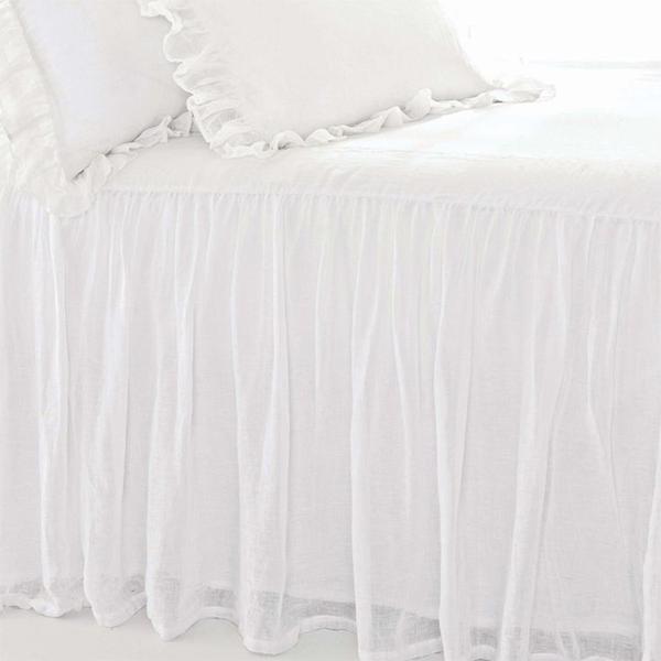 Pine Cone Hill Savannah Linen White Gauze Bedspread