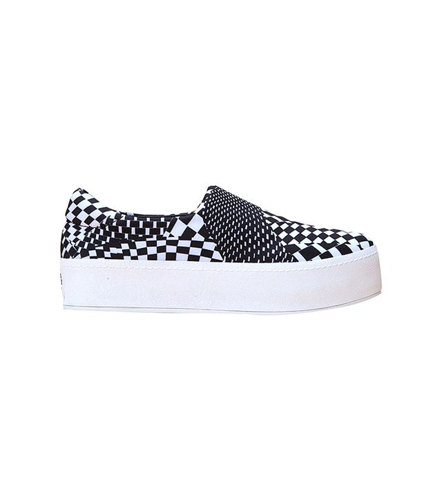Opening Ceremony Slip-On Platform Checkered Sneakers