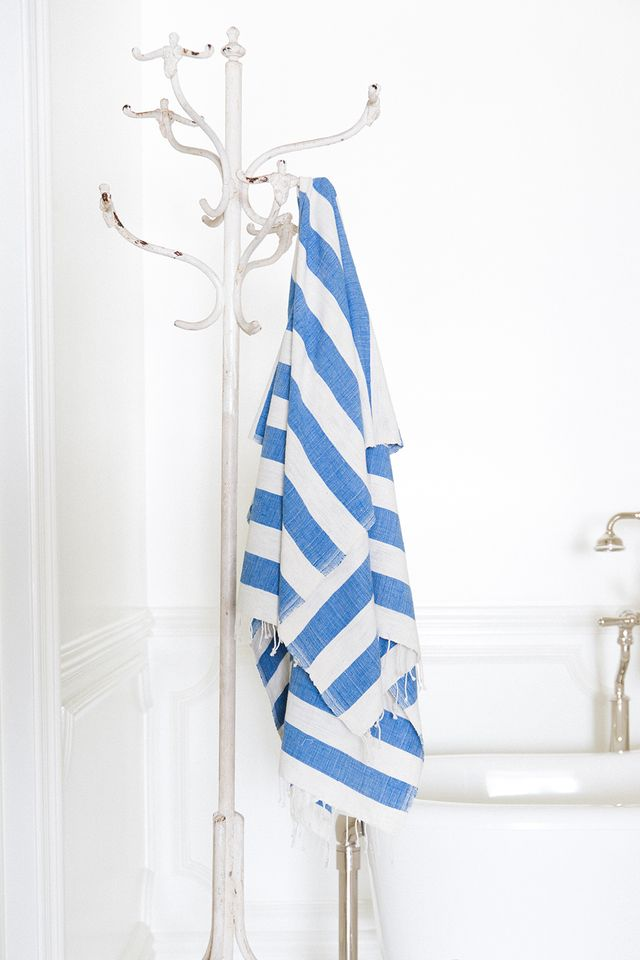 The Little Market Blue Striped Towel