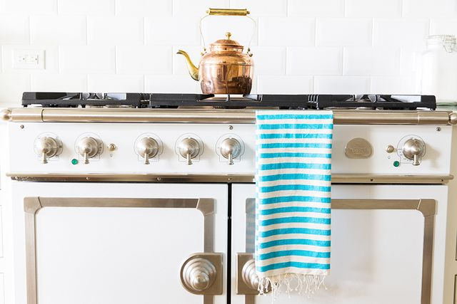 The Little Market Turquoise Striped Hand Towel