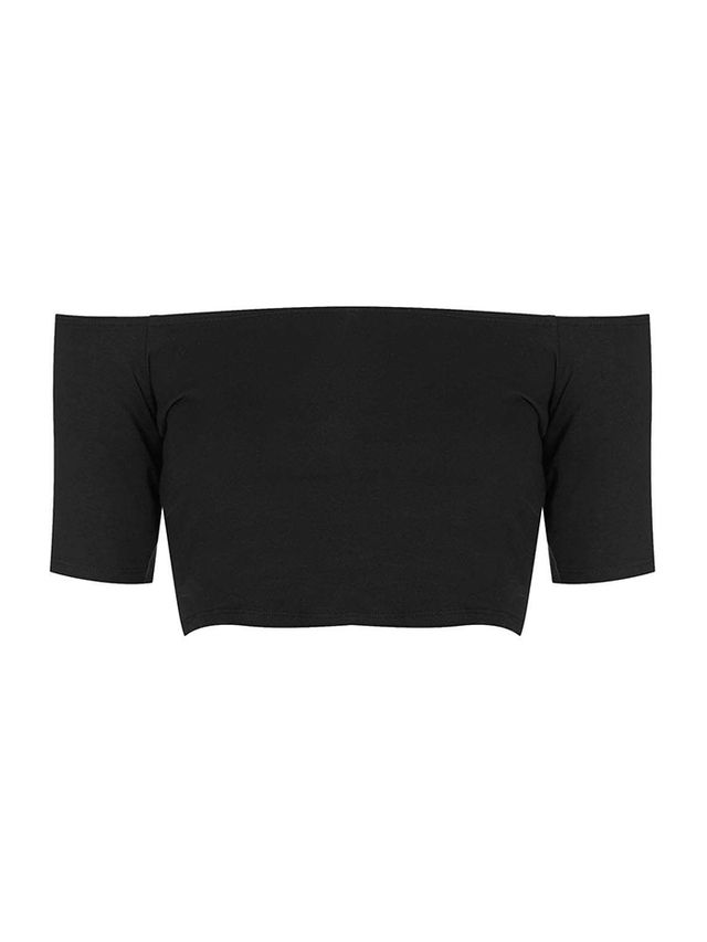 Topshop Bardot Crop Top
