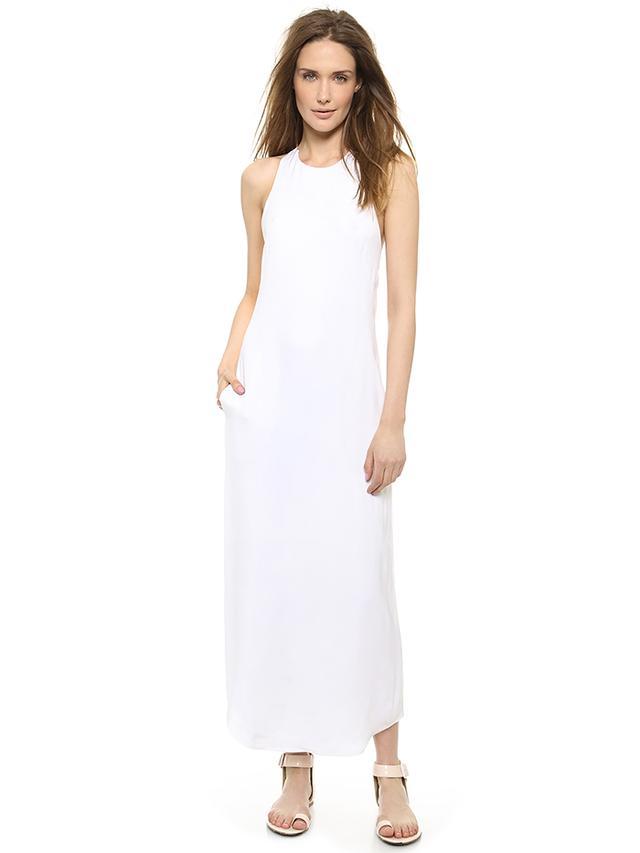 L'Agence Criss Cross Back Dress