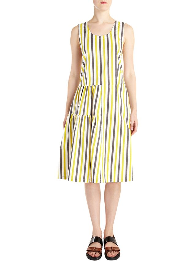 Marni Striped Sleeveless Dress
