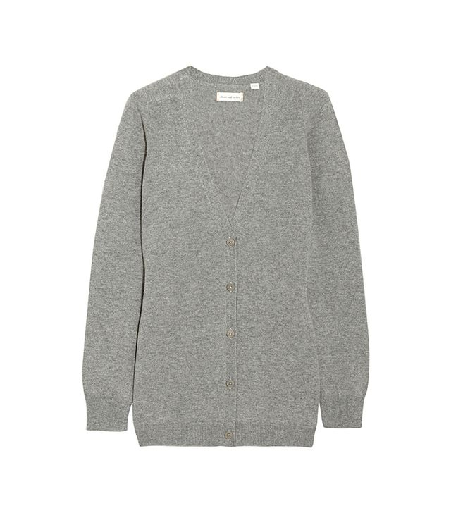 Chinti and Parker Elbow Patch Cashmere Cardigan