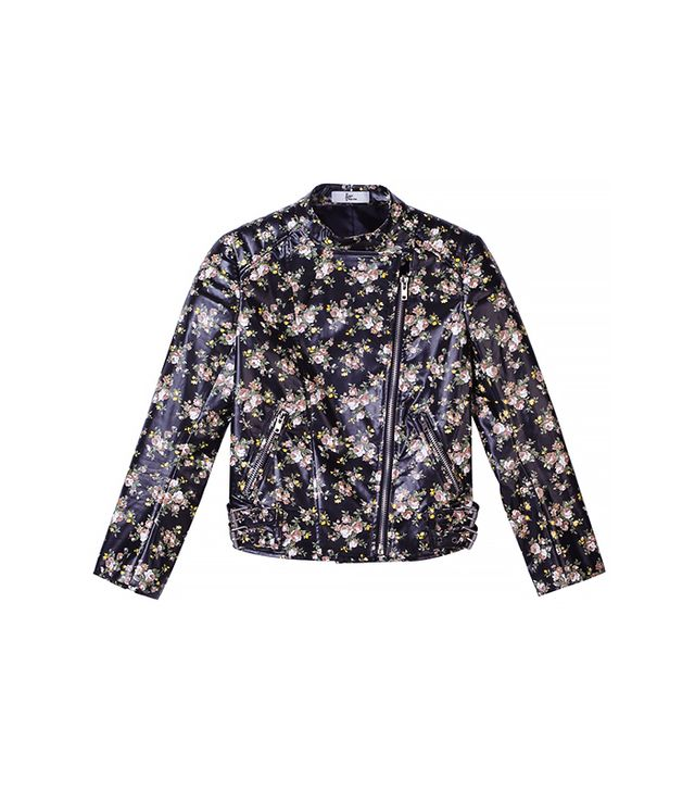 Front Row Shop Faux Leather Jacket in Floral