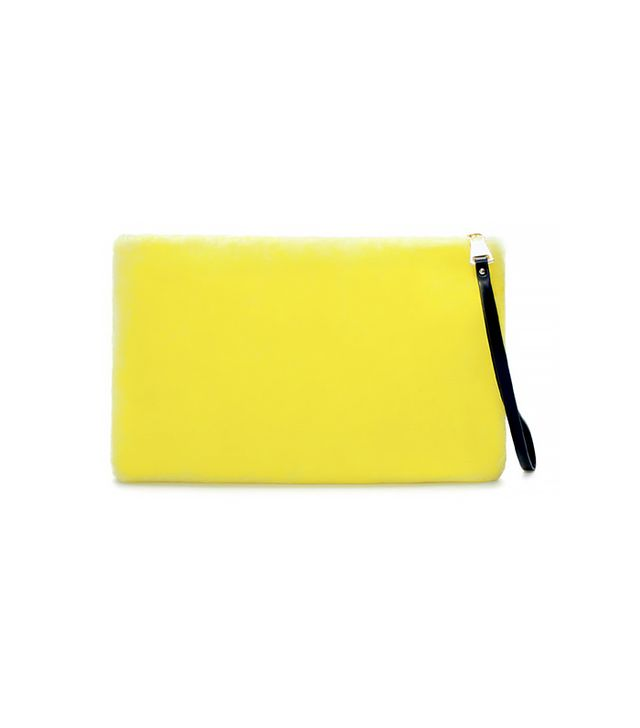 Zara Furry Clutch Bag