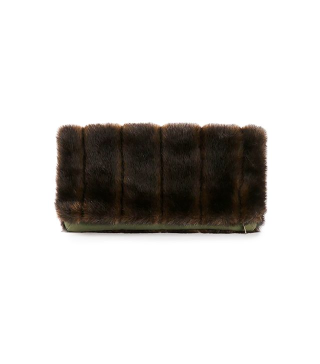 Harvey Faircloth Faux Fur Clutch