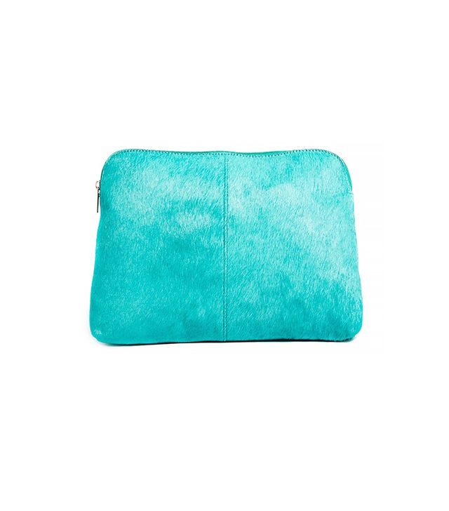 Cart Leather Clutch Bag In Pony And Soft Construction