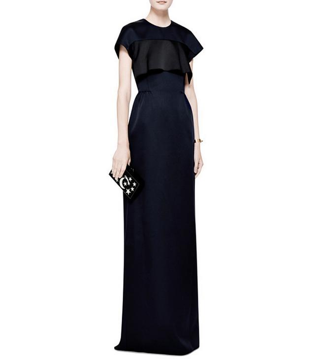 Derek Lam Ruffle-Detail Satin Gown