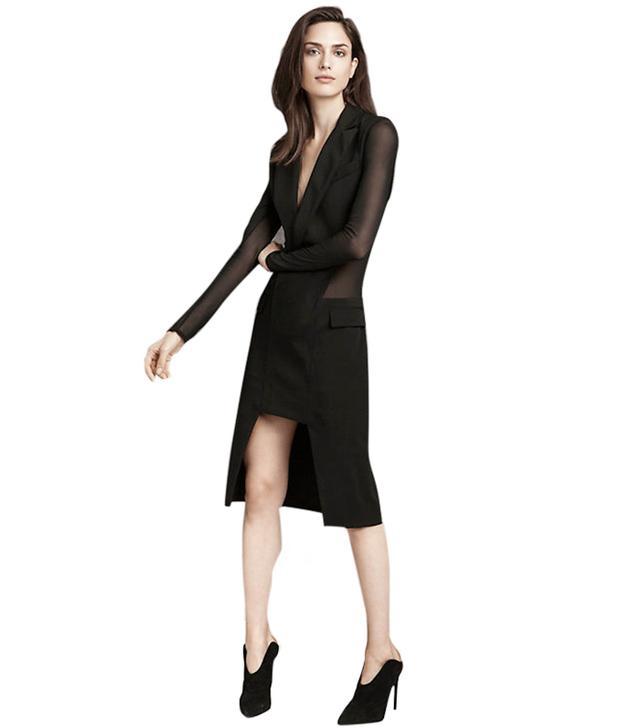Barbara Bui Sheer-Back Suit Dress
