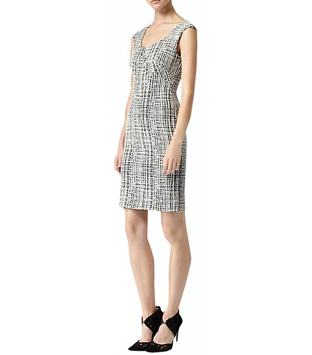 Reiss Garbo Print Structured Dress