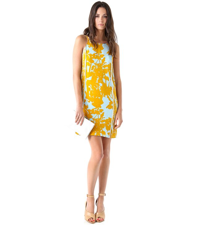 3.1 Phillip Lim Sundress with Pintucked Sides in Goldenrod
