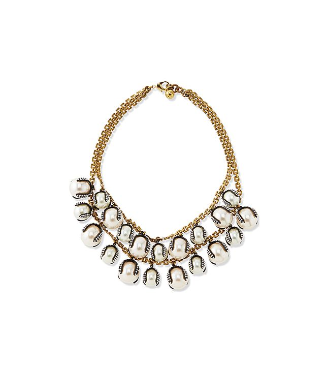 Lulu Frost Decade Simulated Pearl Statement Necklace