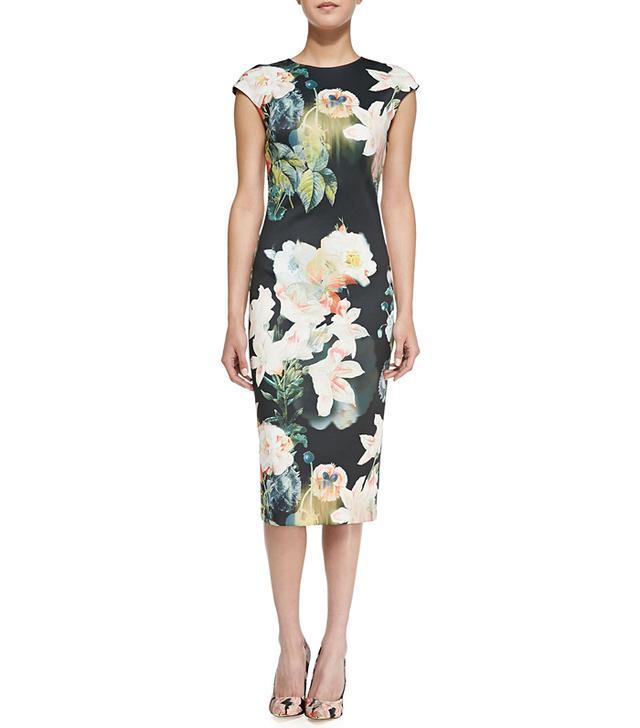 Ted Baker Opulent Bloom Floral-Print Midi Dress