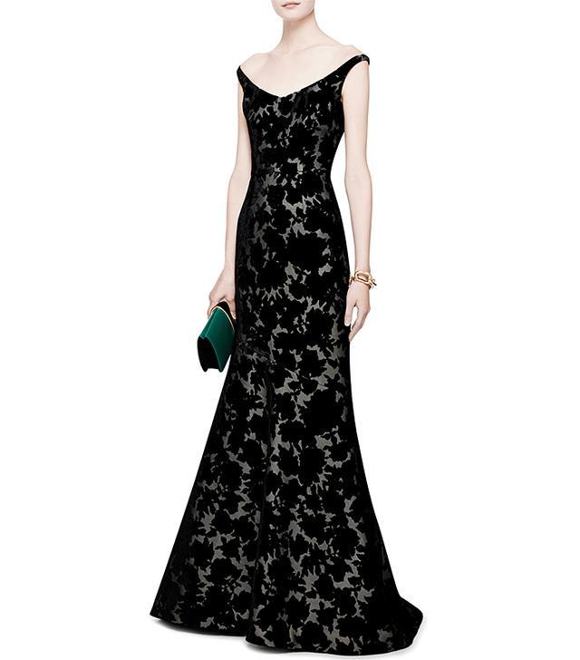 Oscar de la Renta Velvet Devoré Gown