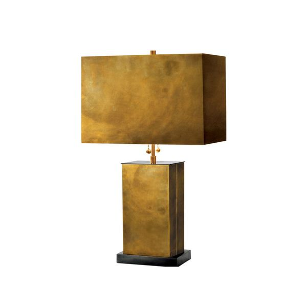 Anthem Elegant Brass Rectangular Lamp