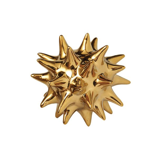 Dwell Studio Urchin Shiny Gold Objet