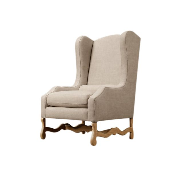 Restoration Hardware Os De Mouton Outdoor Wingback Chair