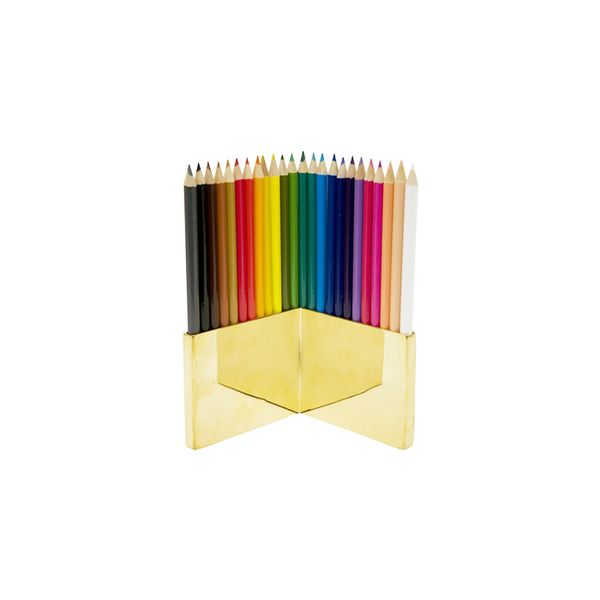 Jayson Home Brass Coloured Pencil Set