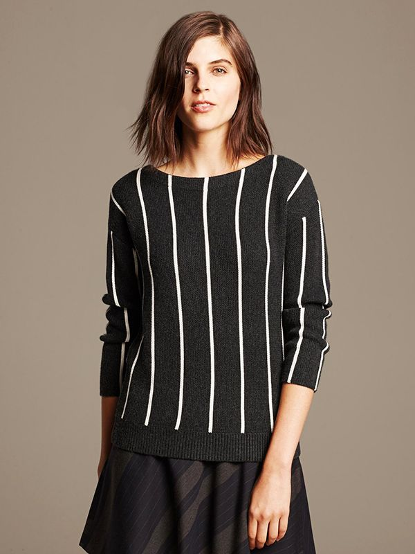 Banana Republic Vertical Stripe Pullover