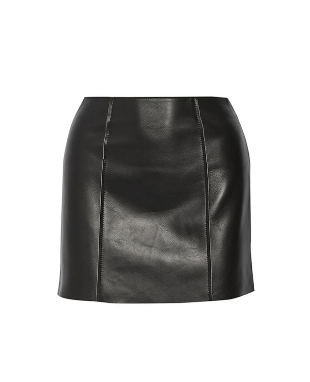 T by Alexander Wang Bonded Leather Mini Skirt