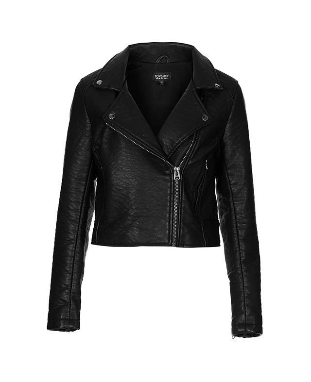 Topshop Ultimate Faux Leather Biker Jacket