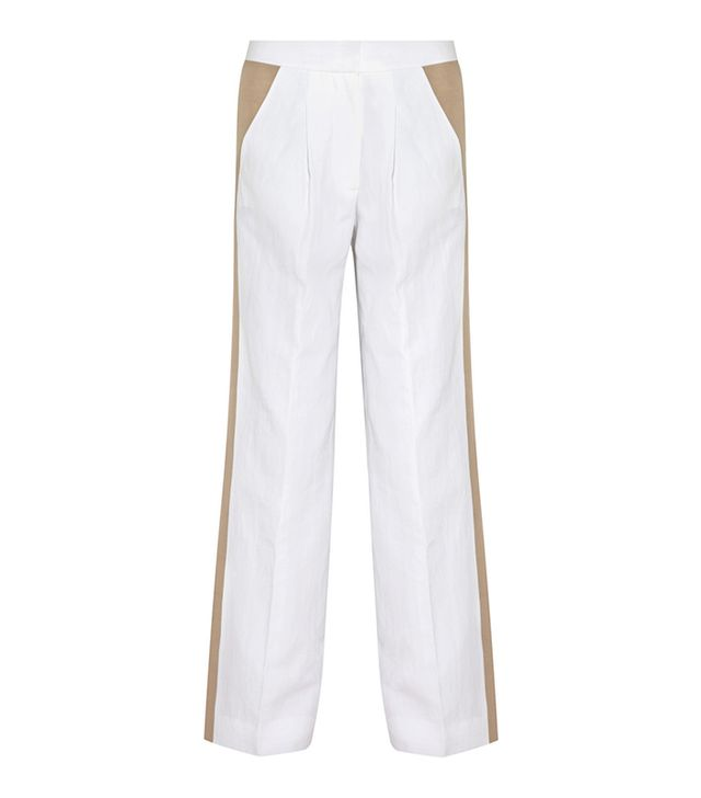 J. Crew Collection Cotton And Linen-Blend Wide-Leg Pants