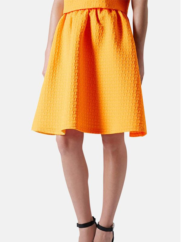 Topshop Textured A-Line Skirt