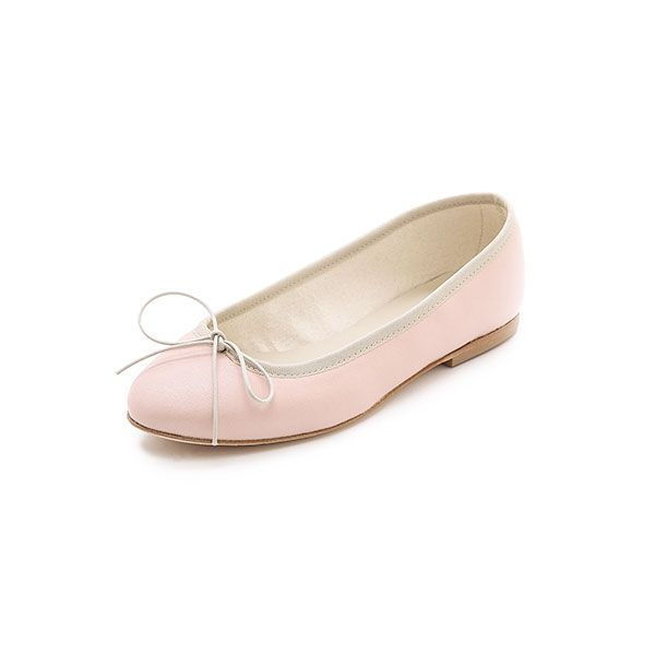 Anniel Leather Ballet Flats in Natural