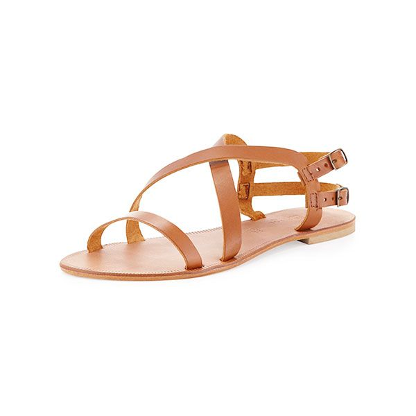 Joie Socoa Strappy Leather Sandal in Cognac