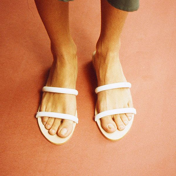 Maryam Nassir Zadeh Lune Sandal in White Calf