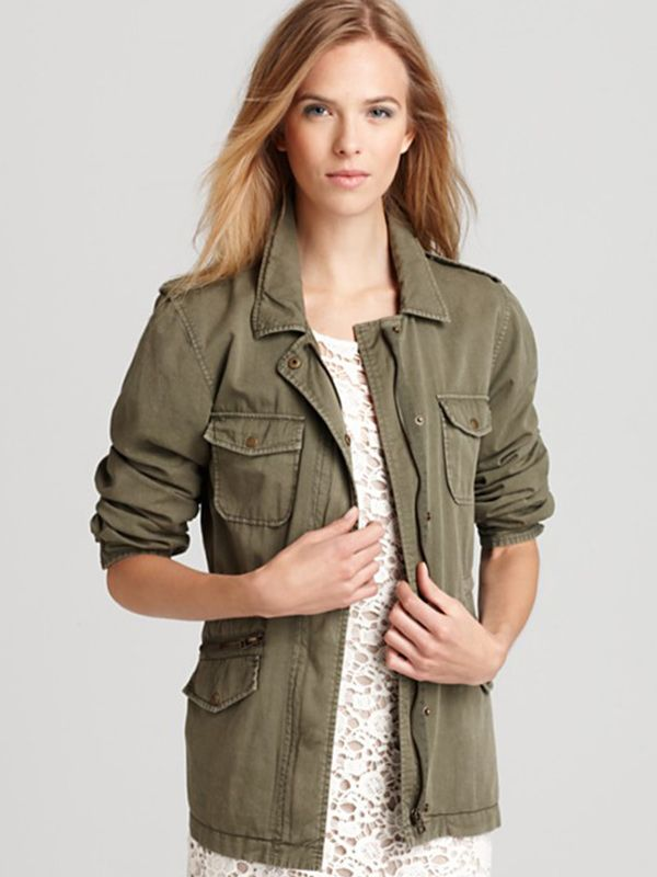 Lily Aldridge for Velvet Army Jacket