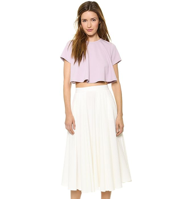 Torn by Ronny Kobo Lena Textured Top in Lavendar