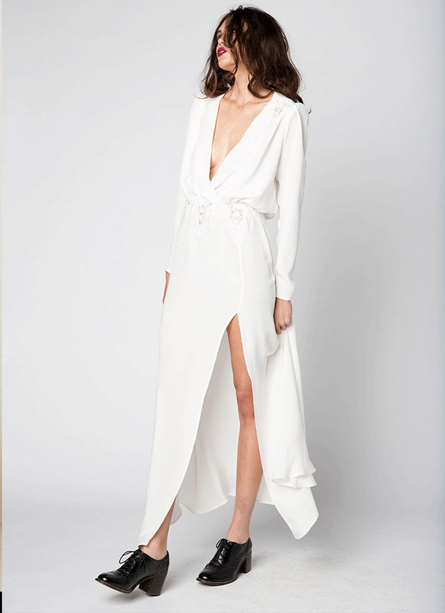 Stone Cold Fox Alabama Gown in White