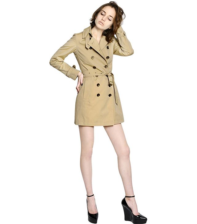 Burberry Brit Crombrook Cotton Gabardine Trench Coat