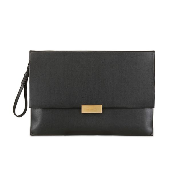 Stella McCartney Eco Faux Nappa Leather Pouch in Black