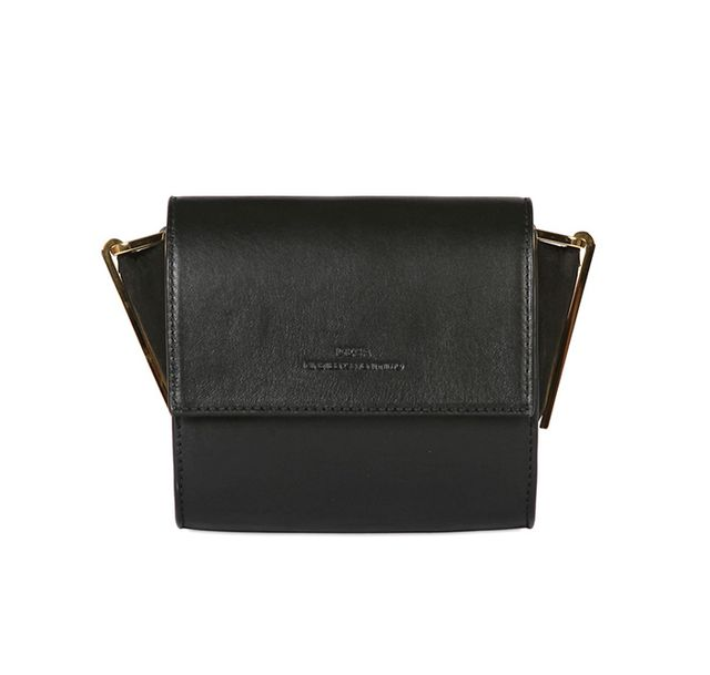 Desa NineteenSeventyTwo ThirtyNine Nappa Leather & Suede Bag in Black