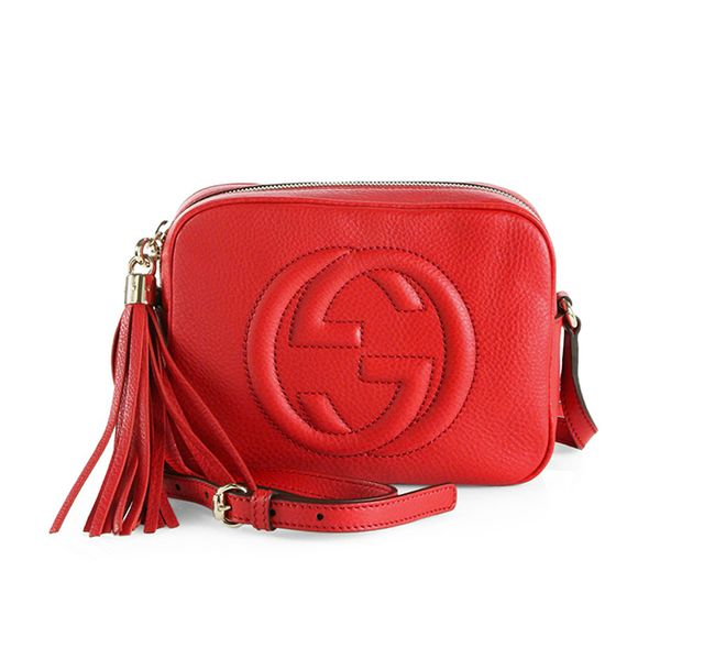 Gucci Soho Leather Disco Bag in Red