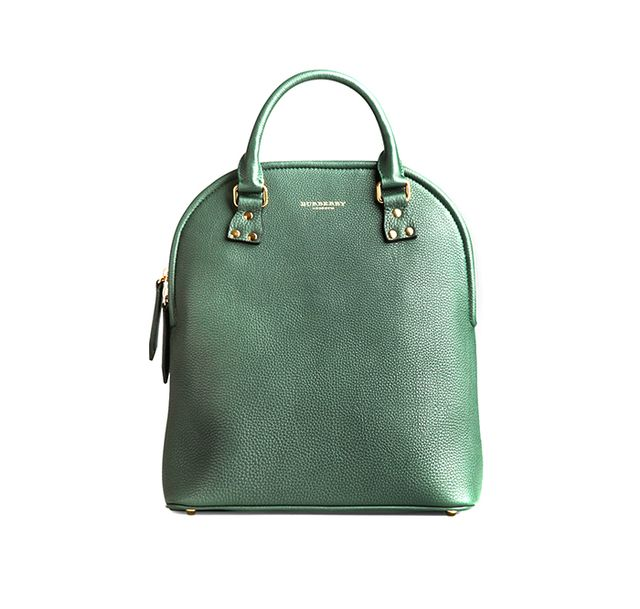 Burberry The Bloomsbury in Hand-Painted Leather in Dark Bottle Green